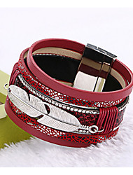 cheap -Cuff Bracelet Leather Bracelet Ladies Tassel Fashion Nylon Bracelet Jewelry Red / Blue / Light Brown For Christmas Gifts Wedding Party Daily Casual