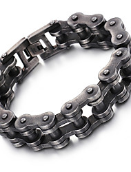 cheap -Men's Chain Bracelet Fashion Stainless Steel Bracelet Jewelry Black For Christmas Gifts Party Anniversary Congratulations Graduation Gift