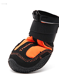 cheap -Dog Boots / Shoes Winter Dog Clothes Waterproof Orange Green Costume Nylon Solid Colored Waterproof XS S M L XL
