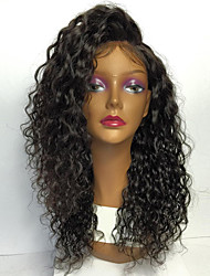 cheap -Human Hair Full Lace Wig Side Part Free Part Rihanna style Brazilian Hair Kinky Curly Brown Natural Black Wig 150% Density 8-30 inch with Baby Hair Natural Hairline African American Wig 100% Hand Tied