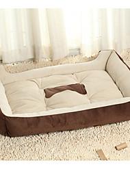 cheap -Cat Dog Mattress Pad Bed Sofa Cushion Bed Blankets Lounge Sofa Soft Pet Mats & Pads Fabric Cotton Bone Black Brown