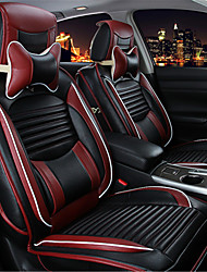 cheap -Car Seat Covers Seat Covers Black Leather Business for universal XA / XB