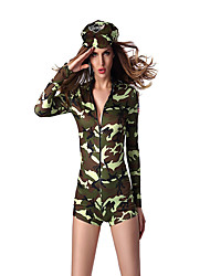 cheap -Soldier / Warrior Career Costumes Cosplay Costume Party Costume Women's Movie Cosplay Leotard / Onesie Hat Christmas Halloween Polyester
