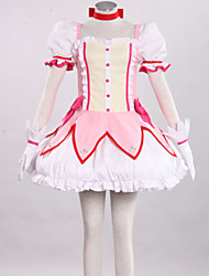 cheap -Inspired by Puella Magi Madoka Magica Madoka Kaname Anime Cosplay Costumes Japanese Cosplay Suits Patchwork Skirt Dress Headpiece For Women's / Tie / Gloves / Waist Accessory / Stockings / Bow