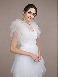 abordables -Sans Manches Tulle Mariage / Soirée Wraps de mariage Avec Etagée Boleros