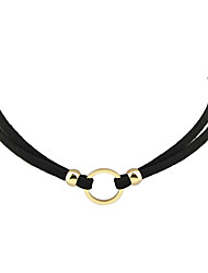 cheap -Women's Choker Necklace Tattoo Choker Necklace Ladies Personalized Tattoo Style Bohemian Leather Alloy Golden Silver Necklace Jewelry For Party Casual Daily Cosplay Costumes
