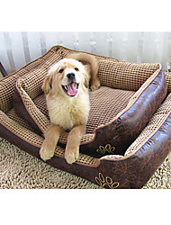cheap -Dog Bed Pet Blankets Nylon Solid Colored Brown Beige