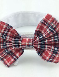 cheap -Cat Dog Christmas Tie / Bow Tie Dog Clothes Black Black / Red Black / White Costume Cotton Bowknot Birthday Wedding S M L