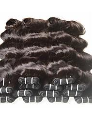 Недорогие -6 Связок Бразильские волосы Естественные кудри Не подвергавшиеся окрашиванию человеческие волосы Remy 300 g Человека ткет Волосы 8-24 дюймовый Естественный цвет Ткет человеческих волос / 10A