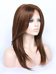 cheap -Human Hair Glueless Lace Front Lace Front Wig style Brazilian Hair Straight Yaki Wig 130% 150% Density 14-18 inch with Baby Hair Natural Hairline African American Wig 100% Hand Tied Women's Medium