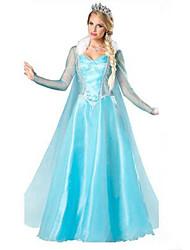 cheap -Movie / TV Theme Costumes Elsa Cosplay Costume Women's Halloween Festival / Holiday Terylene Women's Carnival Costumes Patchwork / Dress / Dress
