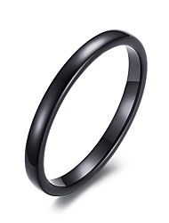 cheap -Band Ring Black Tungsten Steel Ladies Fashion 6 7 8 9 10 / Men's / Men's