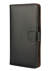 cheap -Case For Nokia Lumia 950 / Nokia Lumia 640 / Nokia Nokia 6 Wallet / Card Holder / with Stand Full Body Cases Solid Colored Hard PU Leather