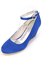 cheap -Women's Heels Wedge Heels Wedge Heel Satin Comfort Spring / Summer Black / Golden / White / Wedding / Party & Evening