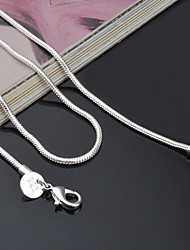 cheap -Women's Chain Necklace Cheap Ladies Classic Fashion everyday Sterling Silver Silver Necklace Jewelry For Party Special Occasion Birthday Gift Casual