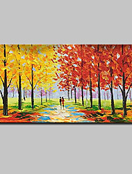 cheap -Oil Painting Hand Painted - Landscape Modern With Stretched Frame / Stretched Canvas