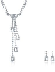 Недорогие -Жен. Цирконий Набор украшений Ожерелье / серьги Свадебные комплекты ювелирных изделий На заказ кисточка Винтаж Для вечеринки На каждый день Мода Стерлинговое серебро Циркон Цирконий Серьги Бижутерия