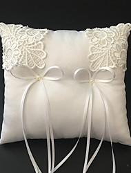 cheap -Faux Pearl / Embroidery / Ribbons Satin Ring Pillow Beach Theme / Garden Theme / Vegas Theme Spring / Summer / Fall