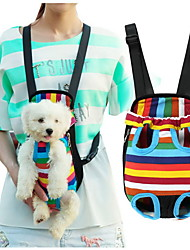 cheap -Cat Dog Carrier & Travel Backpack Front Backpack Nylon Cotton Pet Baskets Stripes Portable Breathable Black Camouflage Color Stripe