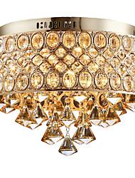 cheap -4-Light 38 cm Crystal / Designers Flush Mount Lights Metal Gold Rustic / Lodge / Modern Contemporary / Retro 110-120V / 220-240V / E12 / E14