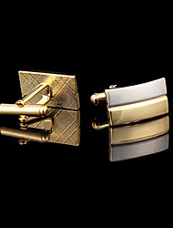 cheap -Men's Cufflinks Gift Boxes & Bags Fashion Gold Plated Brooch Jewelry Golden For Wedding Party Daily Casual