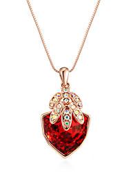 cheap -Women's Bohemian Bohemian Pendant Necklace Sterling Silver / Cubic Zirconia / Opal Green / Dark Red / Watermelon