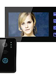 abordables -ennio 7 pouce vidéo porte interphone système sonnette touche touche déverrouiller nuit vision sécurité caméra de vidéosurveillance 1000tvl nuit vision en temps réel surveillance mains libres
