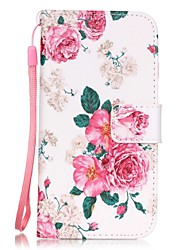 cheap -Case For Apple iPhone 7 Plus / iPhone 7 / iPhone 6s Plus Card Holder / Pattern Full Body Cases Flower Hard PU Leather
