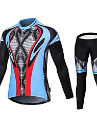 cheap -Malciklo Men's Long Sleeve Cycling Jersey with Tights Bike Tights Breathable 3D Pad Quick Dry Sports Coolmax® Elastane Lycra Snake Mountain Bike MTB Road Bike Cycling Clothing Apparel