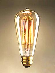 cheap -1pc 40 W E26 / E27 ST64 Warm White 2300 k Retro / Decorative Incandescent Vintage Edison Light Bulb 220-240 V