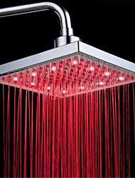 cheap -Top Spray Shower Head With Tricolor Luminous Color Temperature /8 Inch Water Booster Top Spray (ABS Plating) LED