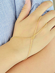 cheap -Women's Ring Bracelet / Slave bracelet Slaves Of Gold Personalized Fashion Alloy Bracelet Jewelry Silver / Golden For Party Daily
