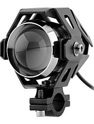 Недорогие -лампочки для мотоциклов 30w светодиодные глаза ангела мотоцикл светодиодные фары 12v 3000lmw u5 фары для вождения на мотоцикле передние фары мото точечный свет фар drl
