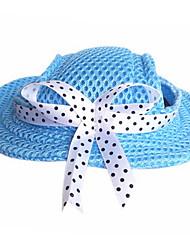 Недорогие -Собаки Банданы и шляпы Одежда для собак Зима Весна/осень Однотонный На каждый день Оранжевый Лиловый Красный Синий Розовый