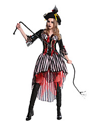 cheap -Pirate Dress Cosplay Costume Hat Adults' Women's Halloween Festival / Holiday Terylene Women's Carnival Costumes Patchwork