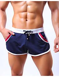 abordables -Homme Shorts de Course Running Coton Des sports Short Bas Course / Running Exercice & Fitness Sport de détente Extérieur Respirable Confortable Anti-transpiration Classique Mode Noir Jaune Rouge Bleu