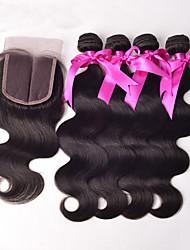 cheap -Peruvian Hair Body Wave Virgin Human Hair Hair Weft with Closure Human Hair Weaves Hot Sale Human Hair Extensions
