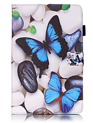 cheap -Case For Samsung Galaxy / Tab S2 8.0 / Tab S2 9.7 Tab 4 7.0 / Tab E 9.6 / Tab E 8.0 Wallet / Card Holder / with Stand Full Body Cases Butterfly Hard PU Leather