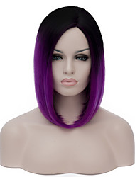 cheap -Cosplay Costume Wig Synthetic Wig Lolita Wig Short Purple Synthetic Hair Women's Purple