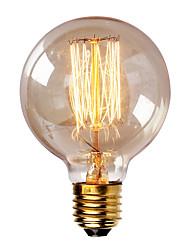abordables -1pc 40W E26 / E27 G80 Blanc Chaud 2300k Rétro Intensité Réglable Décorative Ampoule incandescente Edison Vintage 220-240V