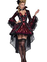 Недорогие -Вампиры Косплэй Kостюмы Костюм для вечеринки Жен. Хэллоуин Фестиваль / праздник Терилен Жен. Карнавальные костюмы Однотонный