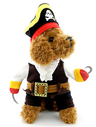 cheap -Cat Dog Costume Dog Clothes Skull Black Cotton Costume For Spring &  Fall Winter Men's Women's Cosplay Halloween