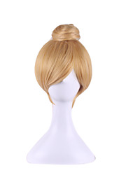 cheap -cosplay wig wonderful fairy tinker bell golden single contract model 8 inch hair wigs Halloween