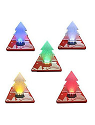 cheap -Pocket Folding Christmas Tree Shape LED Light Credit Card For Holiday 2016 Hot Sale New