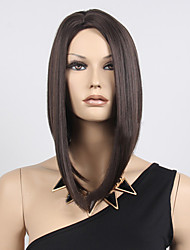 cheap -women short bobo wigs straight black synthetic hair wigs highlighted heat resistant natural middle part wig