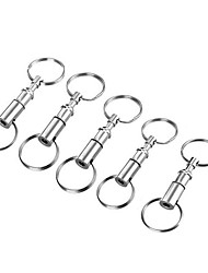 cheap -Buckle lock Multitools Detachable Pocket Multi Function Alloy Hiking Camping Outdoor Indoor Travel FURA Silver 5 pcs