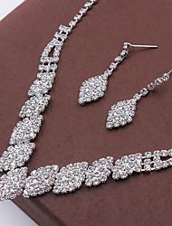 cheap -Women's Crystal Stud Earrings Choker Necklace Necklace / Earrings Fashion Earrings Jewelry Silver For Wedding Party
