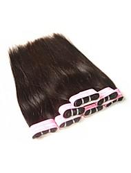 Недорогие -6 Связок Бразильские волосы Прямой Не подвергавшиеся окрашиванию 300 g Человека ткет Волосы Ткет человеческих волос Расширения человеческих волос / 10A / Прямой силуэт