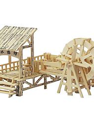 Недорогие -3D пазлы Пазлы Деревянные пазлы Китайская архитектура моделирование деревянный Мальчики Девочки Игрушки Подарок