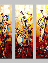 cheap -Oil Painting Hand Painted - Abstract Classic Traditional Painting Only / Three Panels